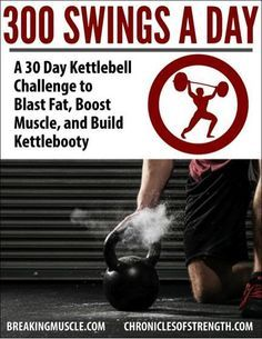 Join the 300 Swings a Day Kettlebell Challenge and Burn an Extra 947 Calories a Day | Breaking Muscle #fitness #kettlebell