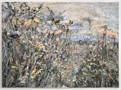 Anselm Kiefer, Paul Celan: We scooped the darkness empty, we found the word that ascended summer: flower, 2012, Oil emulsion, acrylic on photograph on canvas, 280 x 380 cm