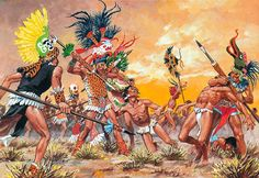 A flower war (Nahuatl: xōchiyāōyōtl, Spanish: guerra florida) is the name given to the battles fought between the Aztec Triple Alliance and some of their enemies: most notably the city-states of Tlaxcala, Huejotzingo, Atlixco and Cholula.