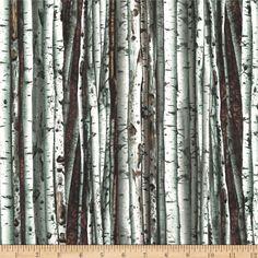 Fabric - Kanvas On The Wild Side Birch Tree Natural
