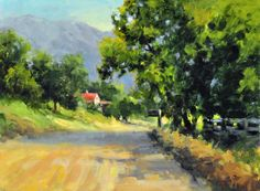 "Out painting country roads…… ""Country Road"" 12X16 plein air oil."