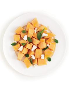 Cantaloupe Goat Cheese Salad