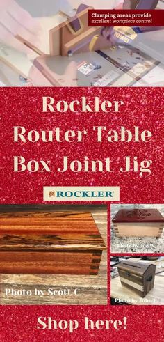 Shop our holiday sales now! Get our Router Table Box Joint Jig to help your favorite woodworker create with confidence. #createwithconfidence #routertable #boxjointjig #boxjoint #rocklerjig Box Joint Jig, Box Joints, Router Accessories, Router Lift, Router Table, Woodworking Jigs, Holiday Sales, Gifts For Dad, Top Rated