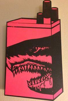 OG Shark Toof (Red Variant) Hand Printed Hand Painted Cigarette Pack Multiples #Graffiti