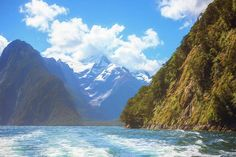 Milford Sound Fiordland New Zealand Artistic Art Print by Joan Carroll.  All prints are professionally printed, packaged, and shipped within 3 - 4 business days. Choose from multiple sizes and hundreds of frame and mat options. visit joan-carroll.pixels.com for more #photos #GiftIdeas and #fashion items from #NewZealand!
