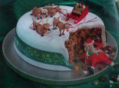 Julenissen har forspist seg-julekake .....denne MÅ jeg lage en gang! LOL