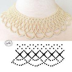 Natali khovalko s photos Diy Necklace Patterns, Seed Bead Patterns, Beaded Jewelry Patterns, Beading Patterns, Bead Jewellery, Seed Bead Jewelry, Beading Jewelry, Diy Schmuck, Schmuck Design