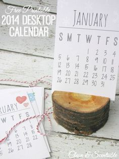 Free Printable 2014 Calendar - Clean & Scentsible