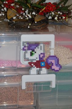My Little Pony- Chibi Sweetie Belle Perler via Etsy