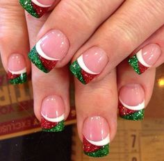 From glitter tips to candy cane stripes and cute snowmen,check out these awesome Christmas Nail Designs to get your nails party ready this Christmas.