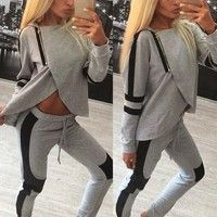 Cheap autumn tracksuit women, Buy Quality autumn woman tracksuit directly from China female tracksuits Suppliers: 2017 New Arrival Women Tracksuits Sportsuit Autumn Spring Ladies Zipper Split Hooded Sweatshirts Casual Female Sportswear Sport Outfits, Casual Outfits, Casual Pants, Sweatshirt Outfit, Jumper Suit, Costume, Sport Pants, Sport Casual, Pulls