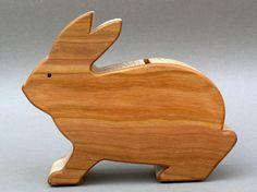 Coleccionistas de banco madera conejito alcancía conejo moneda bancos para niños bebés niñas niños ahorrar dinero para el futuro bebé ducha presente dinero
