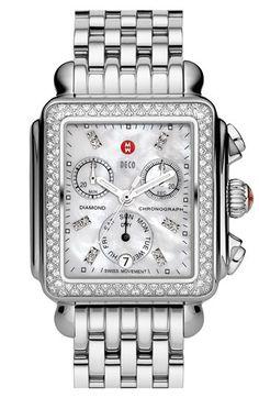 michele deco diamond day watch