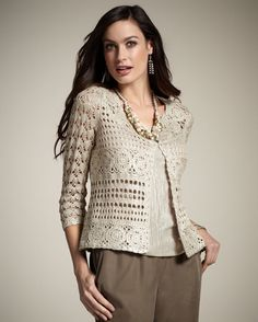 CROCHET moda exclusiva del ganchillo chaqueta  por por LecrochetArt