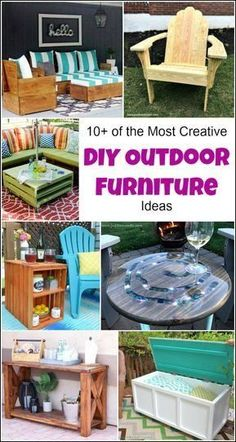 10+ of the Most Creative DIY Outdoor Furniture Ideas   1000 - Modern#creative #diy #furniture #ideas #modern #outdoor Outside Furniture, Outdoor Furniture Design, Furniture Projects, Rustic Furniture, Furniture Makeover, Diy Furniture, Antique Furniture, Modern Furniture, Bedroom Furniture