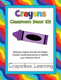 Crayon Classroom Decor Kit with Editable FilesI love crayons! One of my favorite things is a brand new box of Crayola crayons! :) Crayons come in brilliant bright colors with endless possibilitiesCrayon Classroom Decor Kit comes with:Crayon Name TagsCray Crayon Themed Classroom, Classroom Decor Themes, Classroom Setting, Classroom Setup, School Classroom, School Fun, Classroom Organization, Classroom Management, Crayon Bulletin Boards