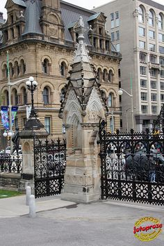 Ottawa Ontario - Wrought iron - Houses of Parliament - Parliament Hill