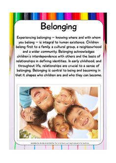 Posters / Signs :: Belonging, Being, Becoming EYLF Display Pack Early Childhood Program, Early Childhood Activities, Childhood Education, Eylf Learning Outcomes, Play Therapy Activities, Children Activities, Learning Stories Examples, Early Childhood Australia, Child Care Services