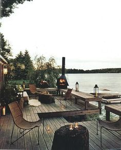 Dock………perfect addition to our existing lakeshore deck.
