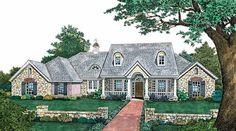Eplans Country House Plan - Quaint Rustic Charm - 2496 Square Feet and 4 Bedrooms from Eplans - House Plan Code HWEPL05156