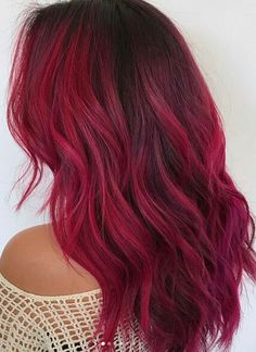 A cool, magenta toned red