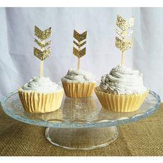 Arrow cupcake topper aztec cupcake topper Boho chic by FalcoClan