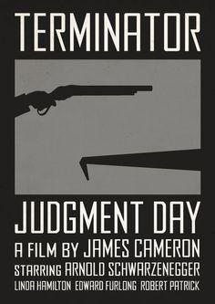 Terminator 2: Judgment Day (1991) ~ Minimal Movie Posters by Viktor Hertz #amusementphile