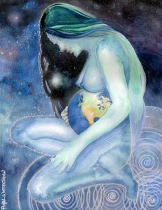 Mother Earth - Gaia by Pearl Whitecrow