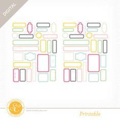 Picture 1 of Arendal Printable Labels by Hello Forever