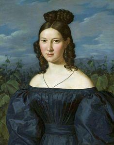 Portrait of a young girl by Ferdinand Georg Waldmüller, 1820 (PD-art/old), Muzeum Narodowe w Warszawie (MNW)