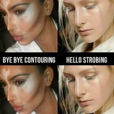"So Instagram is officially giving up on contouring in favor of ""strobing."" 