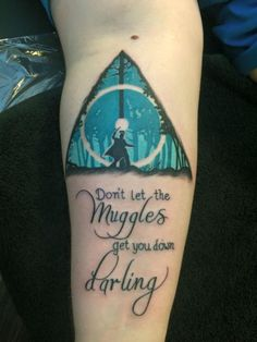 Harry Potter Tattoo... although I think I read somewhere that this is a temporary tat?