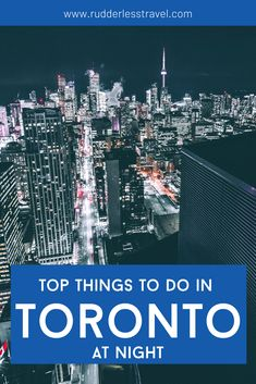 Use this post to learn about the best things to do in Toronto at night. Toronto is the captital of Canada and is full of exciting things to do. Toronto at night is stunning, learn more now! #Toronto #Canada #NorthAmerica Canada Destinations, Amazing Destinations, Cool Places To Visit, Places To Travel, Travel Guides, Travel Tips, Alberta Travel, Rogers Centre, Toronto Travel