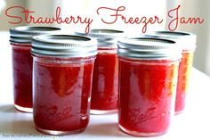 This Strawberry Freezer Jam is easy and fun to make. It only takes 3 ingredients. Perfect for gifts or to keep for yourself.