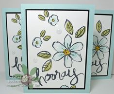 Garden in Bloom with Watercolor Words, Stampin' Up!