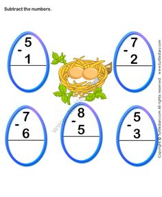 Turtle Diary offers a great variety of math worksheets. These subtraction worksheets are great for preparing to use subtraction with other operations. Online Games For Kids, Learning Games For Kids, Fun Math Games, Preschool Games, Math Activities, Learning Centers, Free Math Worksheets, Subtraction Worksheets, Kindergarten Math Worksheets