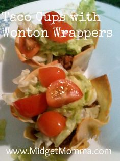 {Recipe} Taco Cups with Wonton Wrappers Recipes - MidgetMomma....One Short Momma, Never Short on the Good Stuff