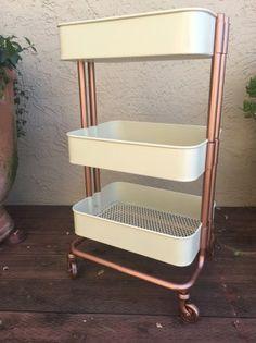 DIY: Rose Gold Ikea Cart - xoxojackie