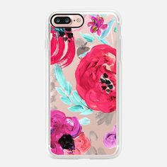 Mona Floral Clear - Classic Grip Case