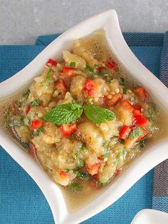 Közlenmiş patlıcan salatası Tarifi - Türk Mutfağı Yemekleri - Yemek Tarifleri