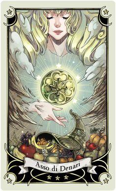 ::Tarot-Minor Arcana-Ace of Pentacles:: by rann-poisoncage.deviantart.com on @deviantART