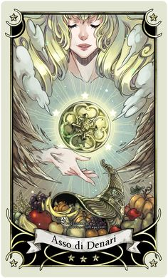 ::Tarot-Minor Arcana-Ace of Pentacles:: by rann-poisoncage.deviantart.com on @deviantART