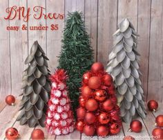 How to Make Dollar Store Christmas Trees for under $5 each!