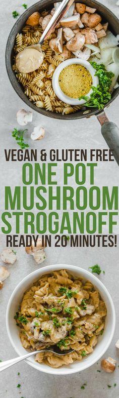 One Pot Mushroom Stroganoff Easy 20 Minute Vegan Recipe