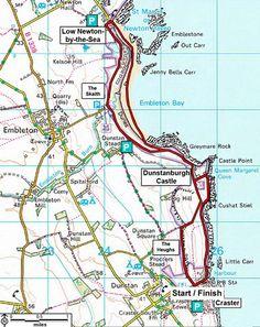 National Trust walk: Craster to Low Newton, Northumberland Northumberland Coast, England Map, British Travel, Walking Holiday, Walking Routes, Hiking Dogs, North East England, Uk Holidays, Rock Pools