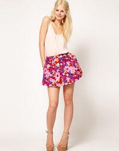 Enlarge ASOS Mini Skirt in Photographic Floral Print