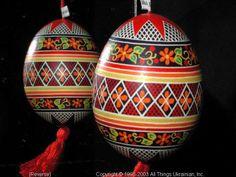 Ukrainian Easter Egg Pysanky 03-212  from the Lviv Region on AllThingsUkrainian.com