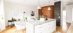 revestimientos de interior interiores pisos pequeños estilo nórdico Encimera de hormigón distribución diáfana cemento pulido suelos encimeras blog decoracion interiores