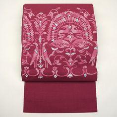 Purple, silk nagoya obi / 気取りのないデザインを織り上げた八寸名古屋帯http://www.rakuten.co.jp/aiyama/
