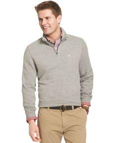 Izod Big and Tall Quarter-Zip Sueded-Fleece Pullover